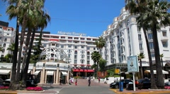 Luxury Hotel Majestic Barriere in Cannes, France Stock Footage