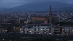 Florence Skyline from Piazzale Michelangelo at Dusk, Florence, Tuscany, Italy, Stock Footage