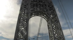 New York City Bridge Traffic, George Washington Bridge, GWB - stock footage