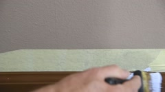 Painting baseboards Stock Footage