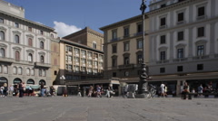 Piazza Della Republica, Florence, Tuscany, Italy, Europe Stock Footage