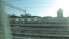 Train Journey from Luca to Florence, Florence, Tuscany, Italy, Europe - stock footage