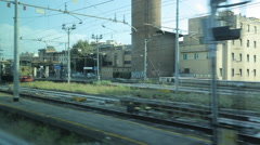 Train Journey from Luca to Florence, Florence, Tuscany, Italy, Europe Stock Footage