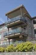 Waterfront residential condominiums Vancouver WA. - stock photo