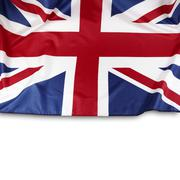 Union Jack flag on white background Stock Photos
