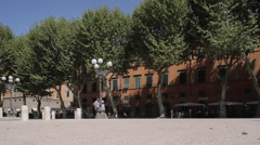 Piazza Napoleone, Lucca, Tuscany, Italy, Europe Stock Footage