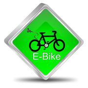 E-Bike Button - stock illustration