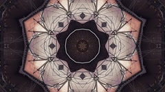 Abstract Fantasy Kaleidoscopic Looping Video Background - stock footage