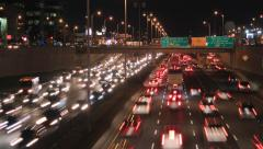 UHD 4k Timelapse of traffic jam at rush hour on highway Stock Footage
