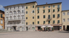 Piazza Del Giglio, Lucca, Tuscany, Italy, Europe Stock Footage