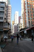 Old Residential Area, Yau Ma Tei, Hong Kong - stock photo