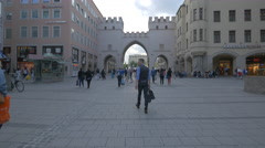 View of Karlstor in Munich Stock Footage