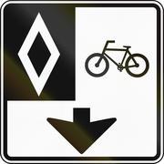 Stock Illustration of Bike Lane In Canada