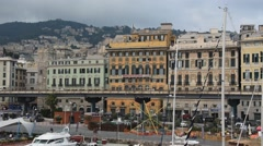 Genoa's Old Port - stock footage