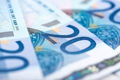 Twenty euro banknotes - stock photo
