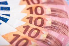 Stock Photo of Ten euro banknotes