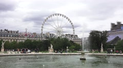 The Roue de Paris in the Jardin des Tuileries (in 4K) in Paris, France. Stock Footage