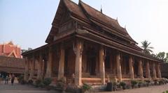 Сourtyard and building  in Wat Si Saket monastery, Vientiane, Laos Stock Footage