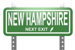 New Hampshire green sign board isolated - stock illustration