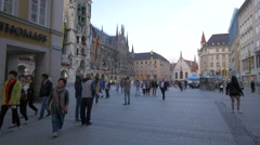 Marienplatz with the New Town Hall, Munich Stock Footage