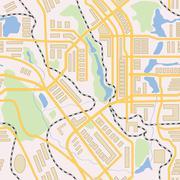 City map seamless pattern Stock Illustration