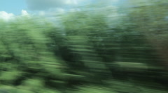 Rail Journey from Lucca to Florence, Tuscany, Italy, Europe - stock footage