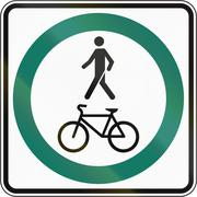 Stock Illustration of Shared Use Path With Single Lanes in Canada