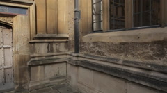 Bodleian Library Courtyard, Oxford, Oxfordshire, England, UK, Europe Stock Footage