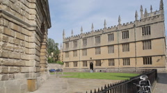 Radcliffe Camera & Bodleian Library on Catte Street, Oxford, Oxfordshire, Stock Footage