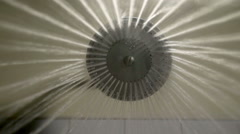 Stock Video Footage of bottom shot Shower Head