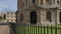 Radcliffe Camera & All Souls College, Oxford, Oxfordshire, England, UK, Europe Stock Footage