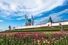 Kazan Kremlin and Kul-Sharif mosque, Tatarstan, Russia Stock Photos