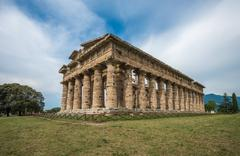 Second temple of Hera at Paestum archaeological site, one of the most well-pr Stock Photos