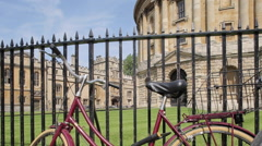 Radcliffe Camera & Cycles, Oxford, Oxfordshire, England, UK, Europe Stock Footage