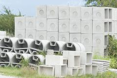Deposit of prefabricated concrete Stock Photos