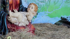 Baby Jesus in the manger - stock footage