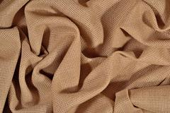 Crumpled  cotton canvas for needlework as background Stock Photos
