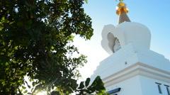 Stock Video Footage of Stupa of the illumination in Benalmadena, Spain