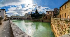 Stock Photo of old thermal baths in Bagno Vignoni, Italy