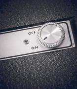 Close up of retro technology with on and off switch Stock Photos