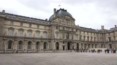 Pan across the Musée du Louvre (in 4K), Paris, France. Stock Footage