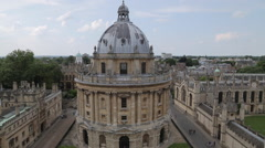 View of Radcliffe Camera from University Church of St Mary, Oxford, Oxfordshire, - stock footage