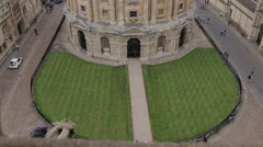 View of Radcliffe Camera from University Church of St Mary, Oxford, Oxfordshire, Stock Footage