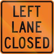 Left Lane Closed in Canada - stock illustration