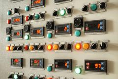 Industry Control Panel - stock photo