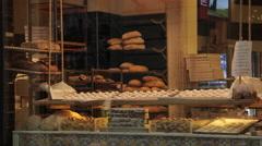 Cake Shop Window near Piazza del Campo, Siena, Tuscany, Italy, Europe Stock Footage