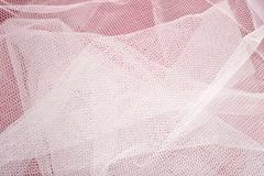 White tulle close up - stock photo