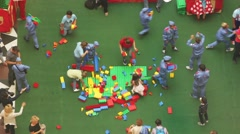 Lego Game Children Have Fun Stock Footage