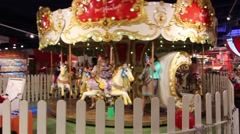Carousel Attraction - stock footage