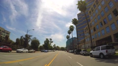 Driving through Los Angeles CA - stock footage